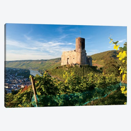 Landshut Castle Above Mosel River, Bernkastel-Kues, Rhineland-Palatinate, Germany Canvas Print #PAD5} by Peter Adams Canvas Art
