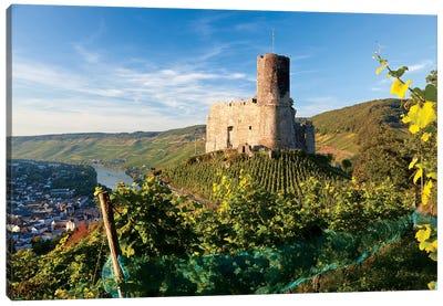 Landshut Castle Above Mosel River, Bernkastel-Kues, Rhineland-Palatinate, Germany Canvas Art Print