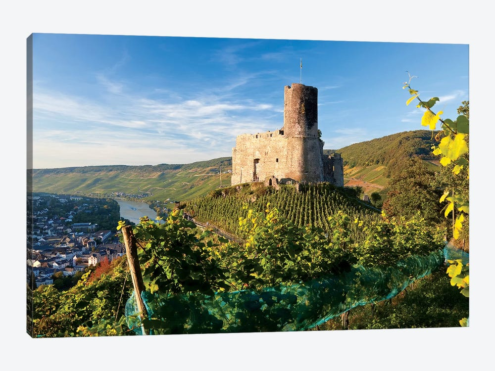 Landshut Castle Above Mosel River, Bernkastel-Kues, Rhineland-Palatinate, Germany by Peter Adams 1-piece Canvas Art Print