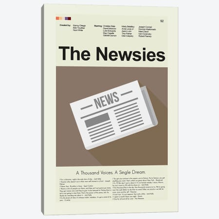 The Newsies Canvas Print #PAG100} by Prints and Giggles by Erin Hagerman Canvas Art