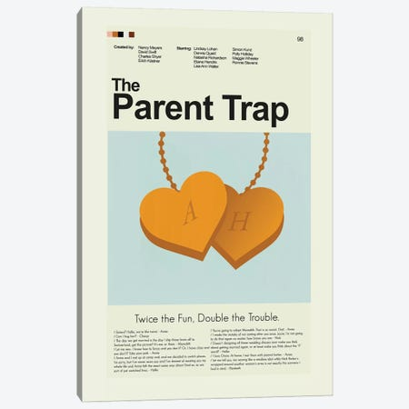 The Parent Trap Canvas Print #PAG101} by Prints and Giggles by Erin Hagerman Canvas Wall Art