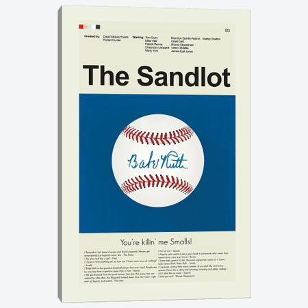 The Sandlot Canvas Print #PAG102} by Prints and Giggles by Erin Hagerman Canvas Art