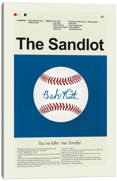 The Sandlot Canvas Art Print