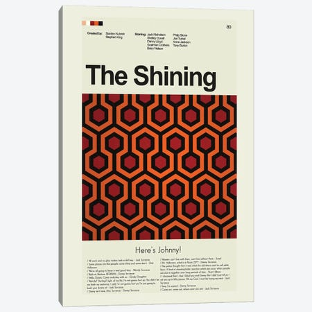 The Shining Canvas Print #PAG103} by Prints and Giggles by Erin Hagerman Canvas Wall Art