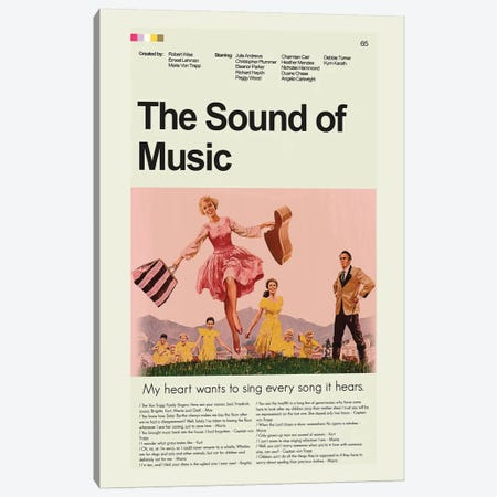 The Sound Of Music Canvas Print #PAG104} by Prints and Giggles by Erin Hagerman Canvas Art Print