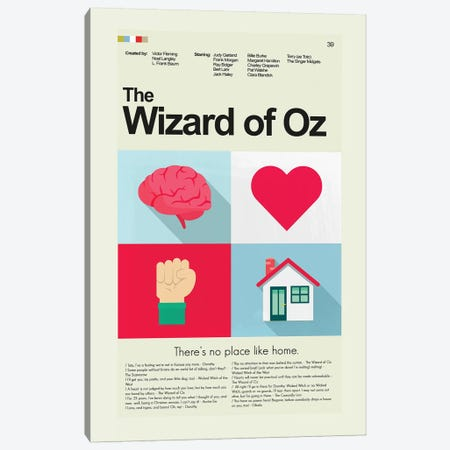 The Wizard Of Oz Canvas Print #PAG105} by Prints and Giggles by Erin Hagerman Art Print