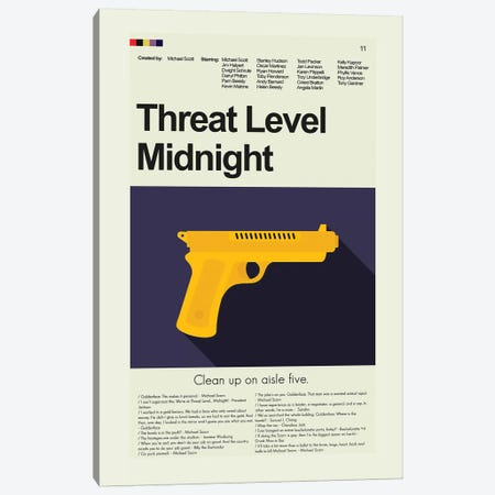 Threat Level Midnight Canvas Print #PAG106} by Prints and Giggles by Erin Hagerman Canvas Print