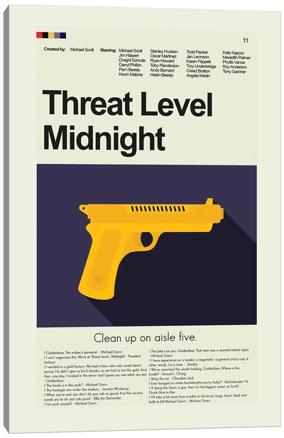 Threat Level Midnight Canvas Art Print