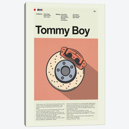 Tommy Boy Canvas Print #PAG108} by Prints and Giggles by Erin Hagerman Canvas Art
