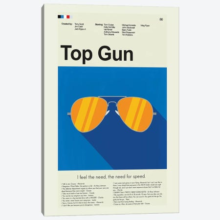 Top Gun Canvas Print #PAG109} by Prints and Giggles by Erin Hagerman Canvas Art