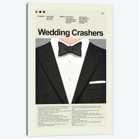 Wedding Crashers Canvas Print #PAG114} by Prints and Giggles by Erin Hagerman Canvas Wall Art
