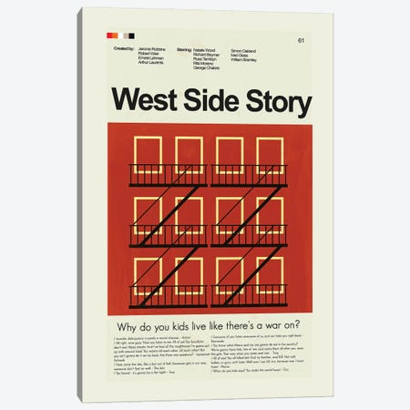 West Side Story Canvas Print #PAG115} by Prints and Giggles by Erin Hagerman Canvas Art