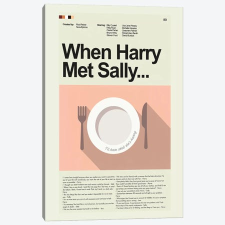 When Harry Met Sally Canvas Print #PAG116} by Prints and Giggles by Erin Hagerman Canvas Wall Art