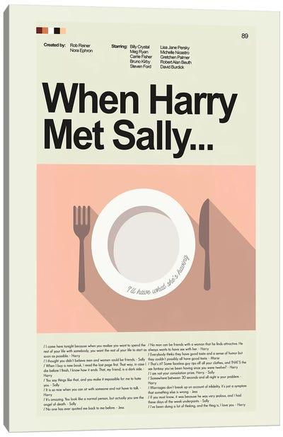 When Harry Met Sally Canvas Art Print