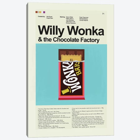 Willy Wonka Canvas Print #PAG117} by Prints and Giggles by Erin Hagerman Canvas Artwork