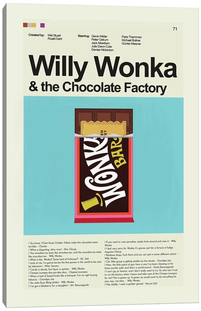 Willy Wonka Canvas Art Print
