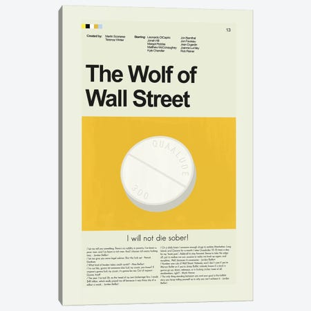 Wolf Of Wall Street Canvas Print #PAG118} by Prints and Giggles by Erin Hagerman Art Print