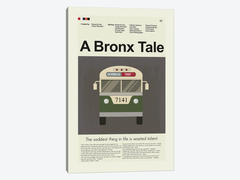 A Bronx Tale by Prints and Giggles by Erin Hagerman 1-piece Canvas Art Print