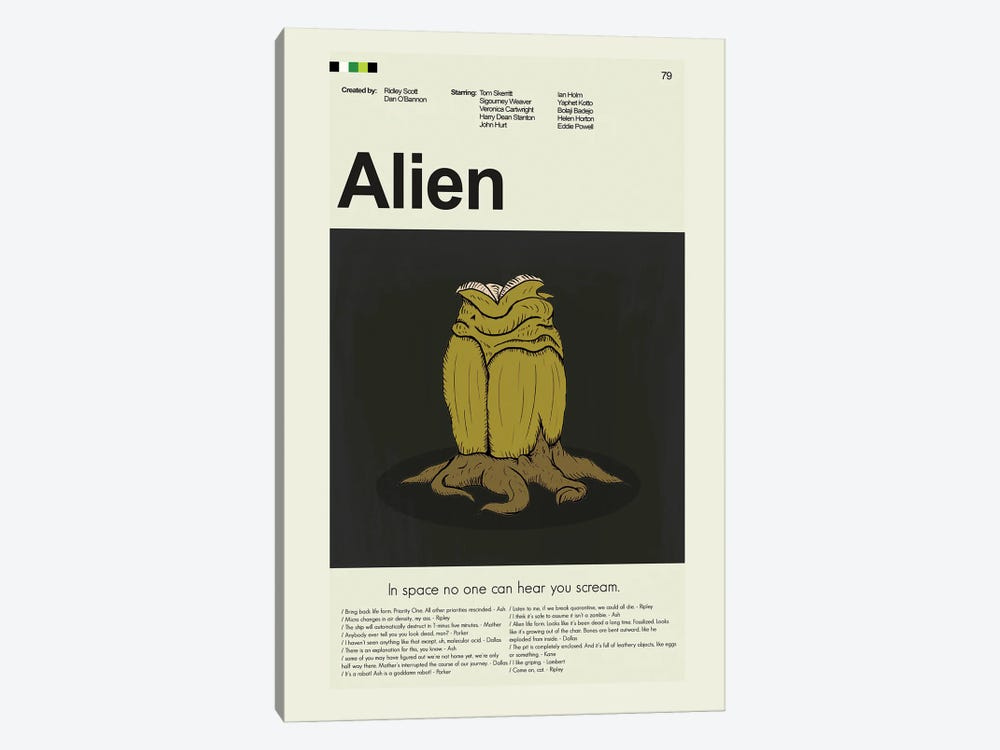 Alien by Prints and Giggles by Erin Hagerman 1-piece Art Print