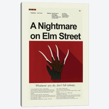 A Nightmare On Elm Street Canvas Print #PAG123} by Prints and Giggles by Erin Hagerman Canvas Art
