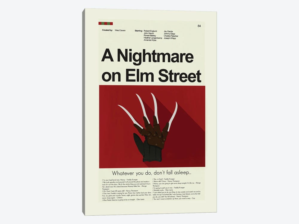 A Nightmare On Elm Street by Prints and Giggles by Erin Hagerman 1-piece Canvas Art