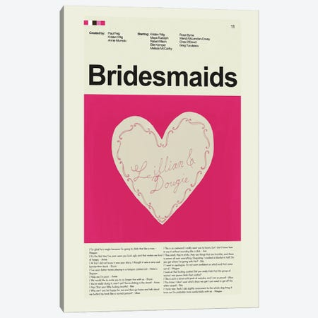 Bridesmaids Canvas Print #PAG124} by Prints and Giggles by Erin Hagerman Canvas Print