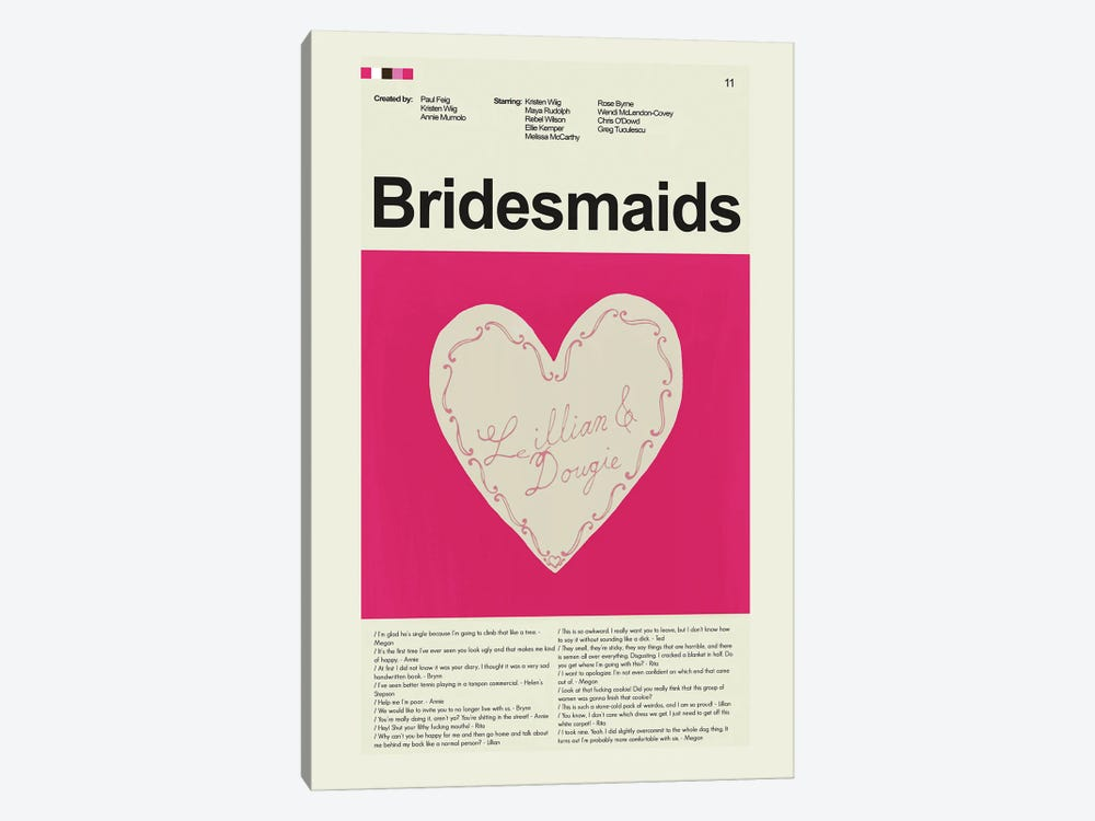 Bridesmaids by Prints and Giggles by Erin Hagerman 1-piece Art Print