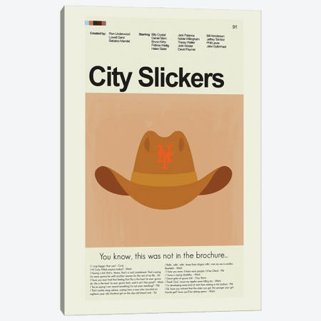 City Slickers 3-Piece Canvas #PAG127} by Prints and Giggles by Erin Hagerman Canvas Print