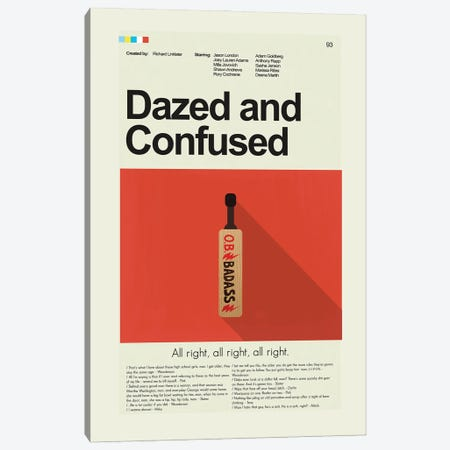 Dazed And Confused Canvas Print #PAG128} by Prints and Giggles by Erin Hagerman Canvas Artwork