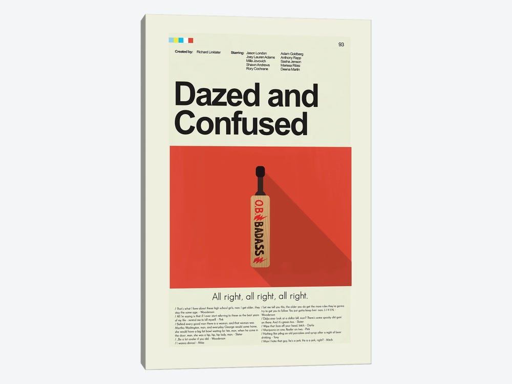 Dazed And Confused by Prints and Giggles by Erin Hagerman 1-piece Canvas Print