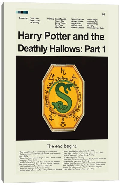 Harry Potter And The Deathly Hallows Part 1 Canvas Art Print