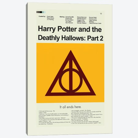 Harry Potter And The Deathly Hallows Part 2 Canvas Print #PAG130} by Prints and Giggles by Erin Hagerman Canvas Art Print