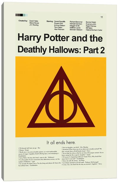 Harry Potter And The Deathly Hallows Part 2 Canvas Art Print