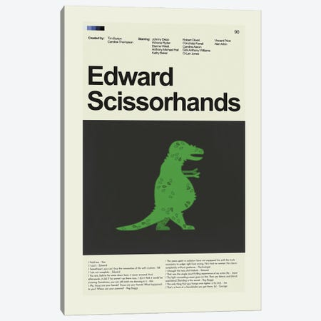 Edward Scissorhands Canvas Print #PAG132} by Prints and Giggles by Erin Hagerman Canvas Print