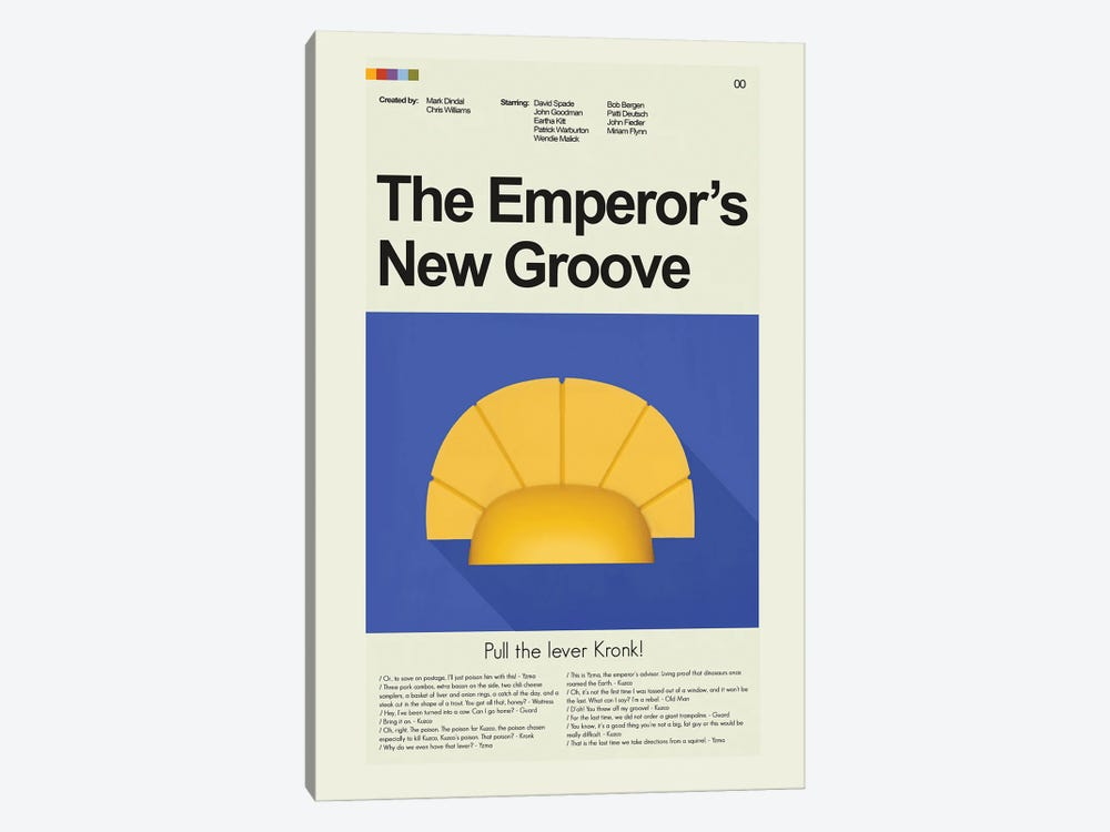 The Emperors New Groove by Prints and Giggles by Erin Hagerman 1-piece Art Print