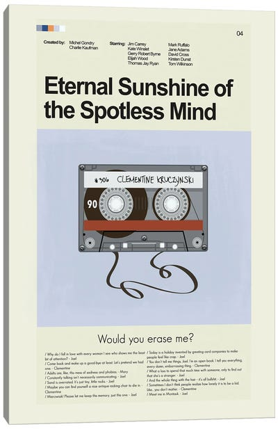 Eternal Sunshine Of The Spotless Mind Canvas Art Print