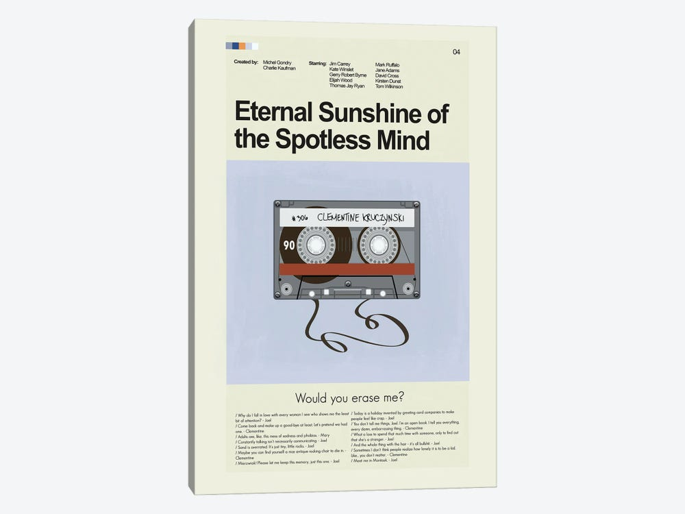 Eternal Sunshine Of The Spotless Mind by Prints and Giggles by Erin Hagerman 1-piece Canvas Wall Art