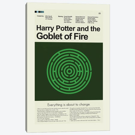 Harry Potter And The Goblet Of Fire Canvas Print #PAG135} by Prints and Giggles by Erin Hagerman Canvas Artwork