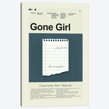 Gone Girl Canvas Print #PAG136} by Prints and Giggles by Erin Hagerman Canvas Art