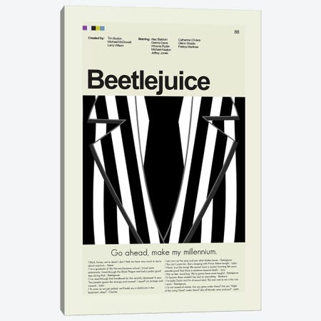 Beetlejuice Canvas Print #PAG13} by Prints and Giggles by Erin Hagerman Canvas Artwork