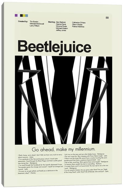Beetlejuice Canvas Art Print