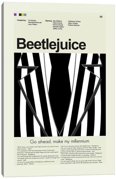 Beetlejuice Canvas Art Print