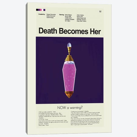 Death Becomes Her Canvas Print #PAG140} by Prints and Giggles by Erin Hagerman Canvas Art