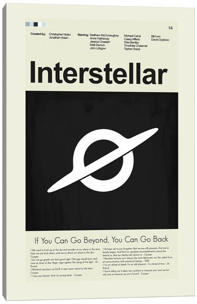 Interstellar Canvas Art Print