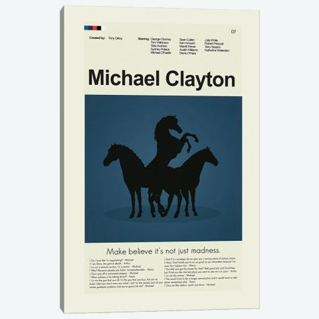 Michael Clayton Canvas Print #PAG142} by Prints and Giggles by Erin Hagerman Canvas Wall Art
