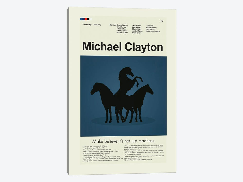 Michael Clayton by Prints and Giggles by Erin Hagerman 1-piece Canvas Art Print
