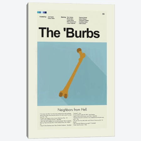 The Burbs Canvas Print #PAG143} by Prints and Giggles by Erin Hagerman Canvas Artwork