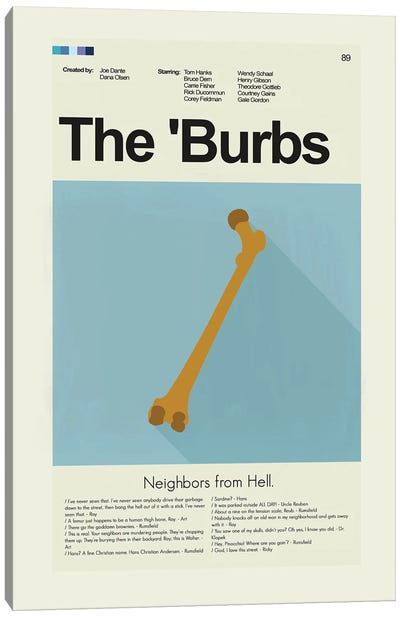 The Burbs Canvas Art Print