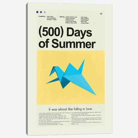 500 Days of Summer Canvas Print #PAG144} by Prints and Giggles by Erin Hagerman Canvas Art Print