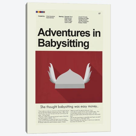 Adventures in Babysitting Canvas Print #PAG146} by Prints and Giggles by Erin Hagerman Canvas Art Print